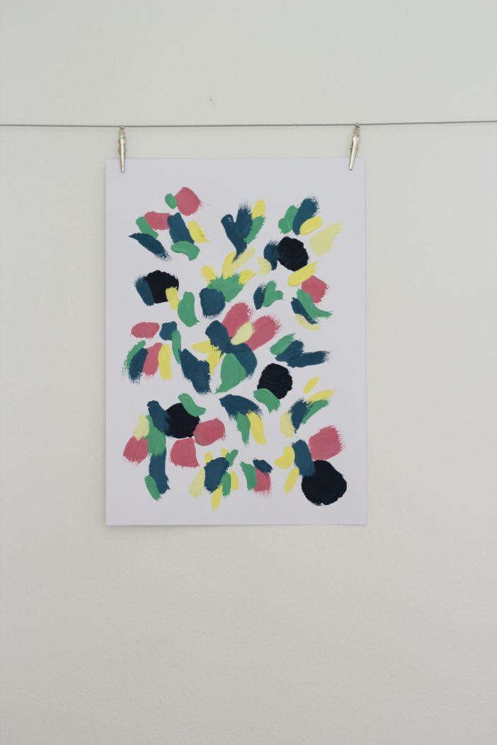Vårinspirerad målning   Sandra Theresa