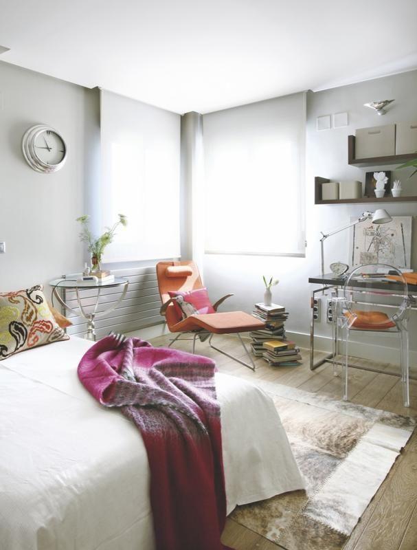 #Dormitorio con #escritorio Crea un área de estudio en un rincón