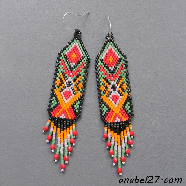 Seed bead earrings. I would like to make these