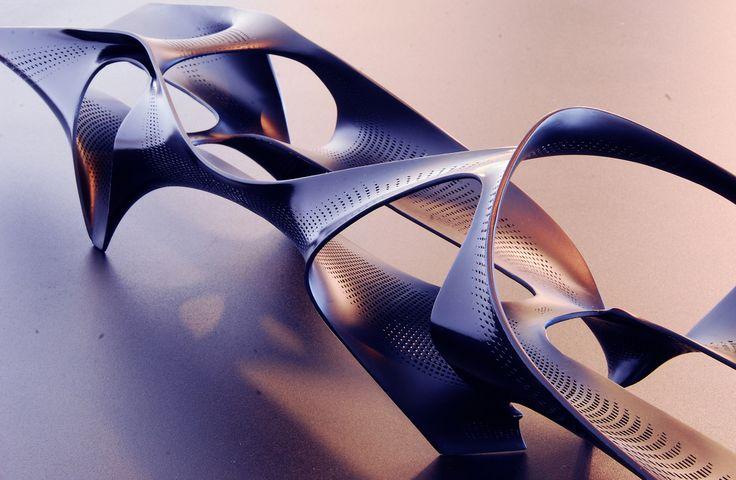 3D printed organic form bench
