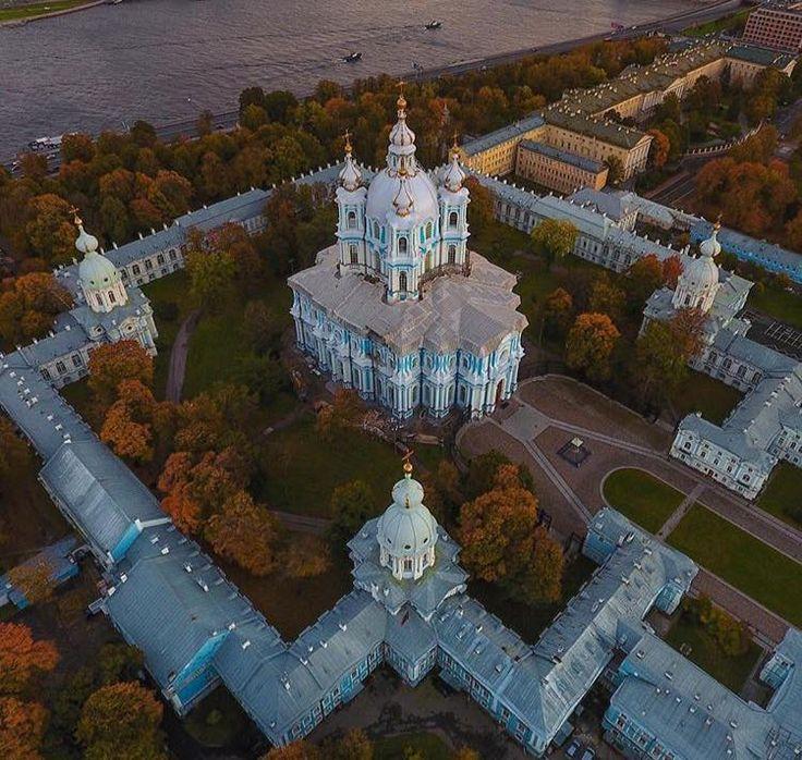 Санкт-Петербург, осень, Смольный собор