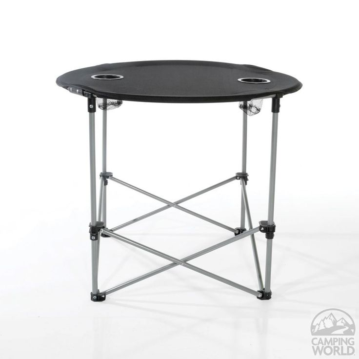 Black Round Table   HGT CW7009   Folding Tables   Camping World | Camping |  Pinterest