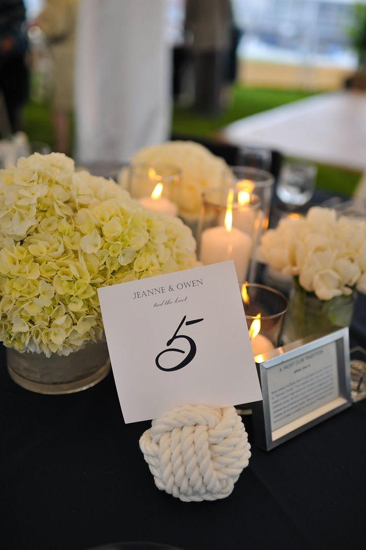 Monkey Fist Knots table numbers