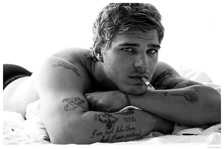 Chris Zylka Poses in Calvin Klein Underwear for Un Titled Project Photo Shoot image Chris Zylka 2014 Un Titled Project Photo Shoot 001