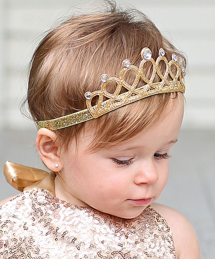 Look at this Gold Glitter Tiara Headband on #zulily today!
