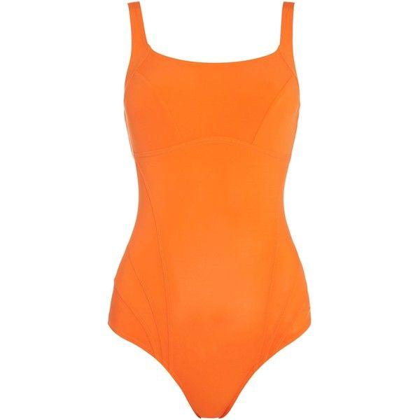 Speedo Clearluxe one piece swimsuit (€45) ❤ liked on Polyvore featuring swimwear, one-piece swimsuits, orange, women, orange one piece swimsuit, orange swimsuit, speedo bathing suits, 1 piece swimsuit and swimsuit swimwear