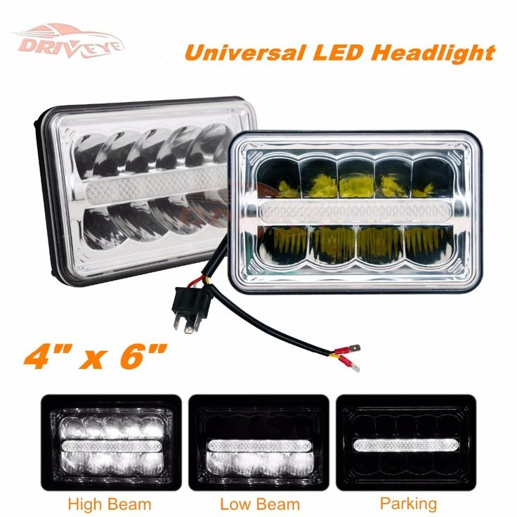 Driveye 4X6 7 Inch LED Headlight High Low Sealed Beam DRL Head lamp Work Light For Jeep Wrangler Off-road Truck
