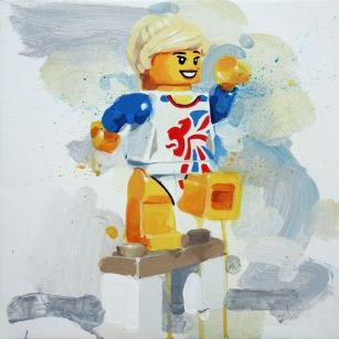 Team GB Gymnast from James Paterson available now from Evergreen Art Cafe