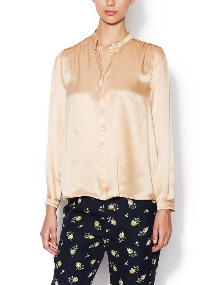 Sandwashed Silk Blouse by Girl by Band of Outsiders at Gilt