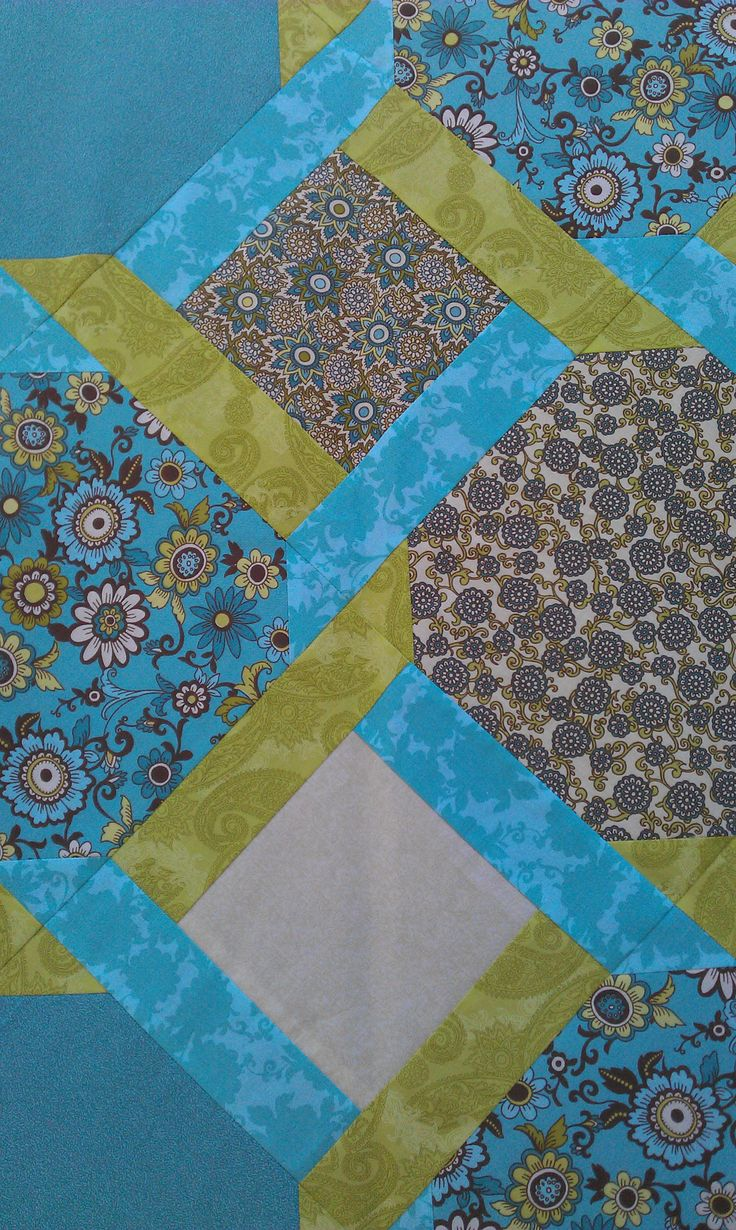 detail of fresh quilt I made