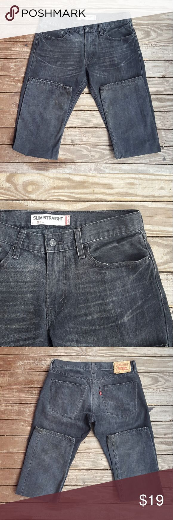 BLOWOUT SALE | Levi's 514 Slim Straight Jeans A great pair of distressed Levi's!   Size 32 × 32  Style 514 Slim Straight  Color Grey Distressed, subtle discoloration throughout  Open to Offers. Fast Shipping. Xo Levi's Jeans Slim Straight