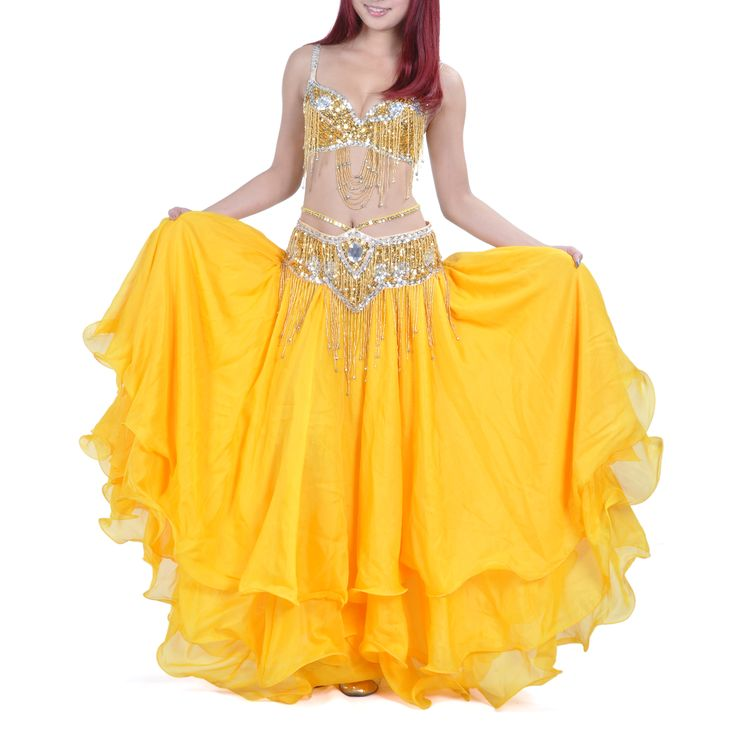 Opentip.com: BellyLady Professional Belly Dancing Costume, Sequined Bra Top And Waist Belt