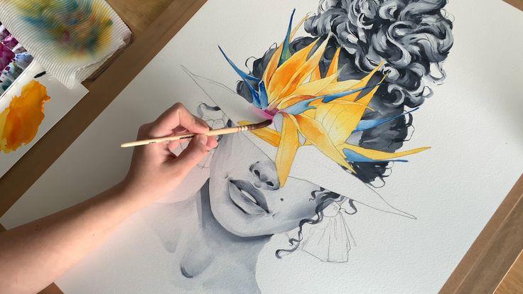 Birds of paradise blindfolded by Polina Bright
