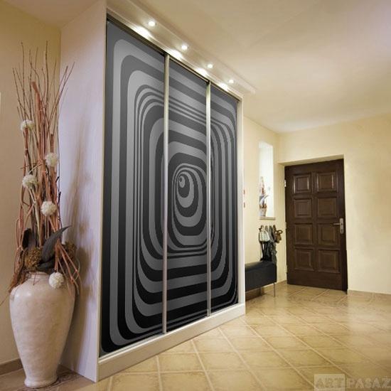 fototapeta samoprzylepna z czarno-białą abstrakcją