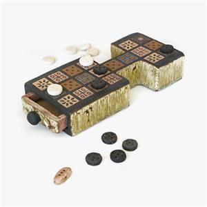 Royal Game of Ur Ceramic - Juego real de Ur de cerámica; más infomación del juego en http://www.xtec.cat/~rbernau1/tauler/cst/ur.htm