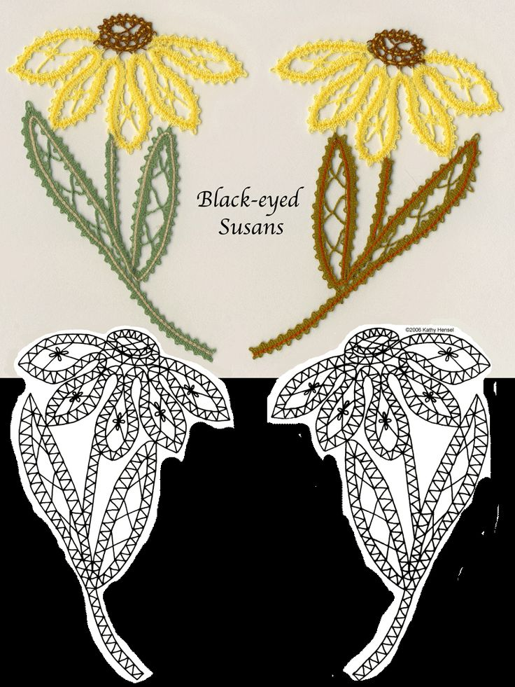bobbin pattern - black-eyed susans