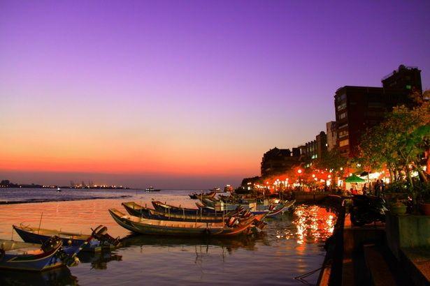 淡水へは午後に行って街を散策しながら夕日をみるのがオススメ!