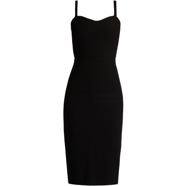 Max Mara Cinghia dress ($625) ❤ liked on Polyvore featuring dresses, black, sweetheart cocktail dresses, holiday dresses, evening dresses, sweet heart dress and sweetheart neckline evening dress
