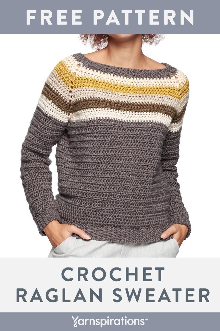 Padrão de camisola de crochê grátis para mulheres | Este suéter feito à mão é trabalhado a ...