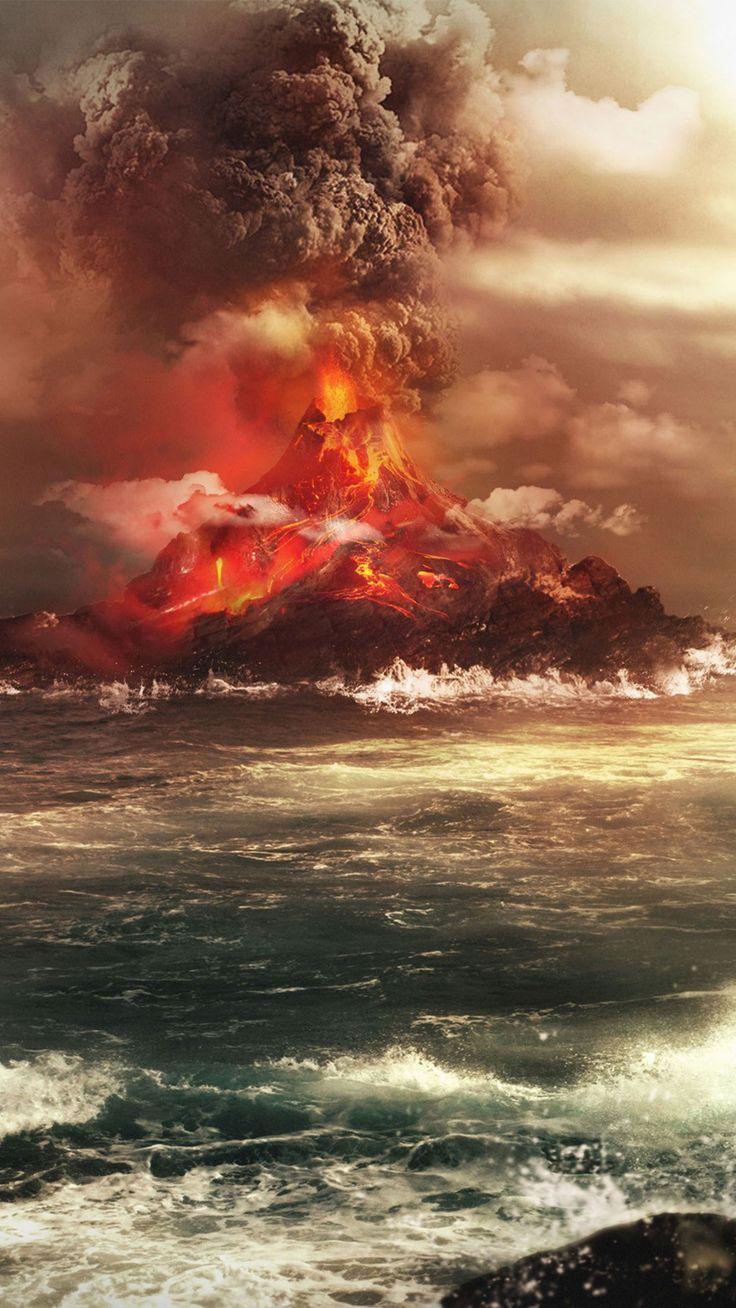 Volcano mountain nature wallpaper #Iphone #android #volcano #mountain #nature more on wallzapp.com