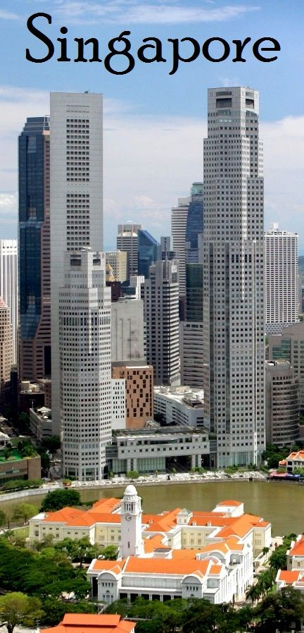 Early Singapore's beautiful colonial structures are dwarfed by the skyscrapers of Raffles Place, on the other side of the Singapore River | 25 Travel Tips for Singapore