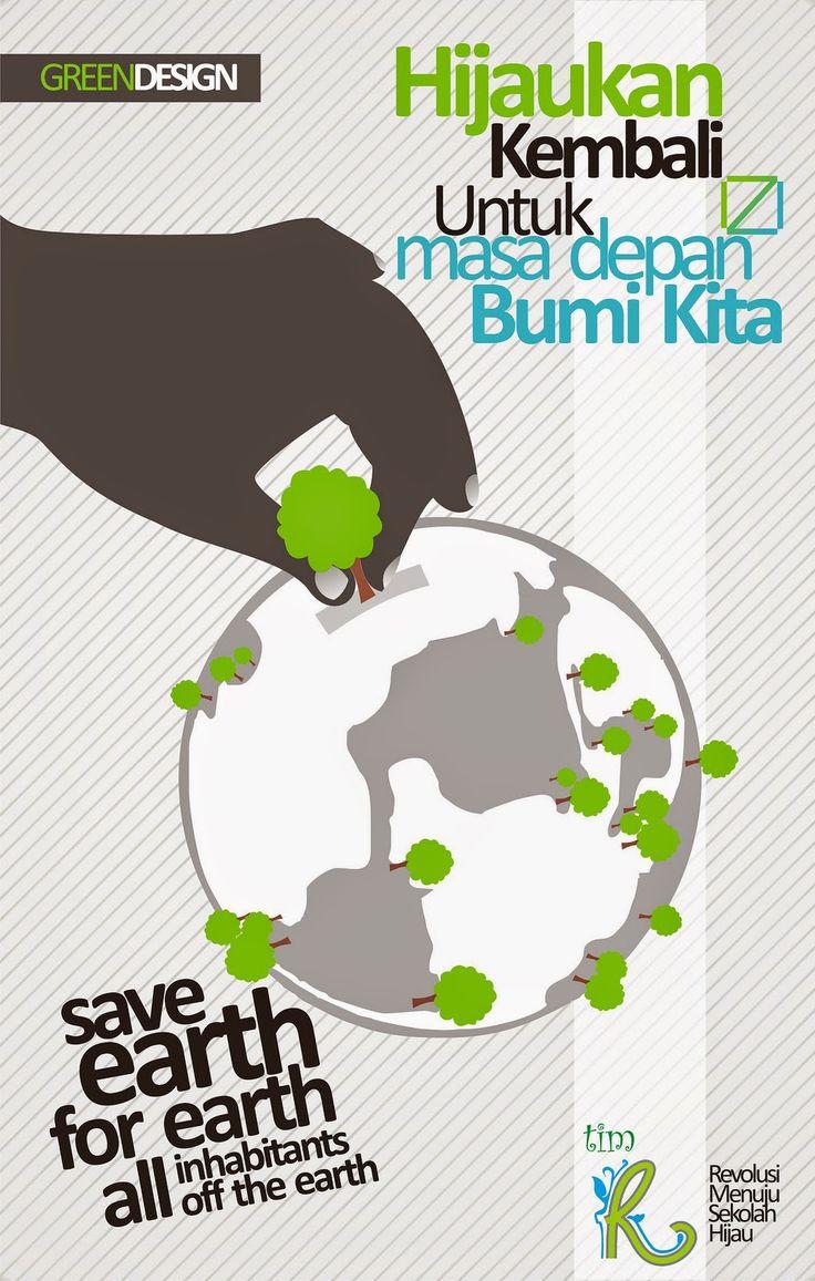 Poster Lingkungan Mari Menanam Pohon Seputar Poster Pinterest
