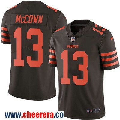 mens cleveland browns 13 josh mccown brown 2016 color rush stitched nfl nike limited jersey game