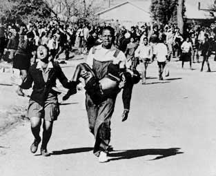 Hector Pieterson - the first child to be shot in the Soweto Uprising - June 16th 1976 - Soweto (Sam Nzima)