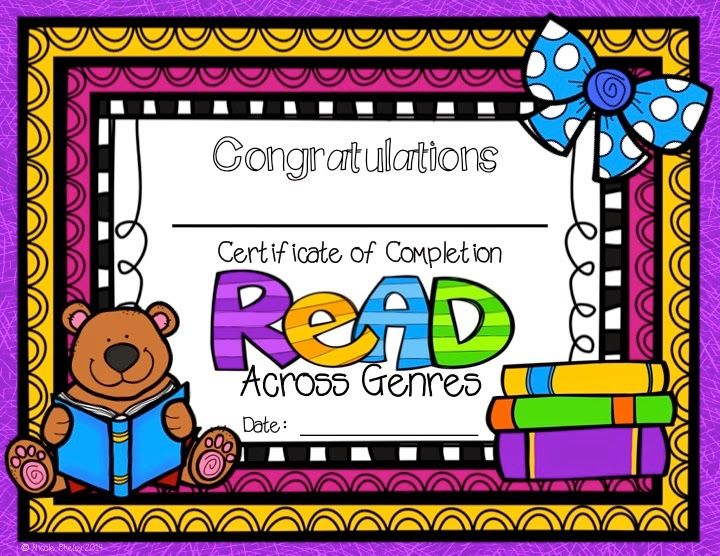 """Reward your students with the included certificate, and you may want to offer a prize of some sort.  I will probably offer a homework pass, candy, and a little something else, as well.  Also, I have included a header for a bulletin board and little tags. The students can put their names on the tag for the bulletin board. So, my students can join the """"Reading Across the Genres"""" Wall of Fame.  Kids love to see their names on the wall."""