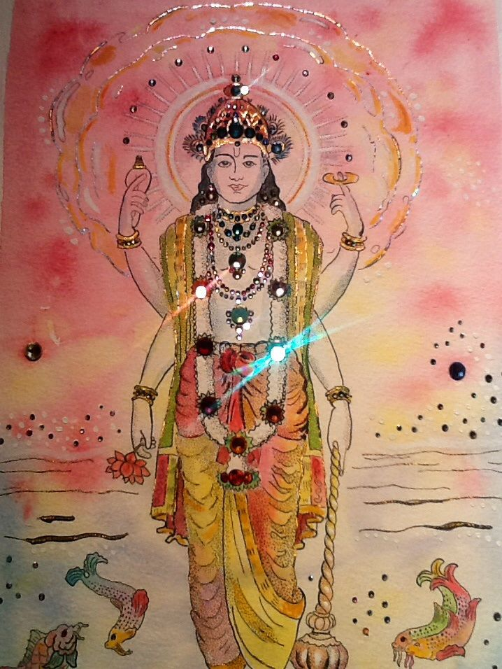 Vishnu , crystalized by Olaf Van Cleef , with Svarowski elements
