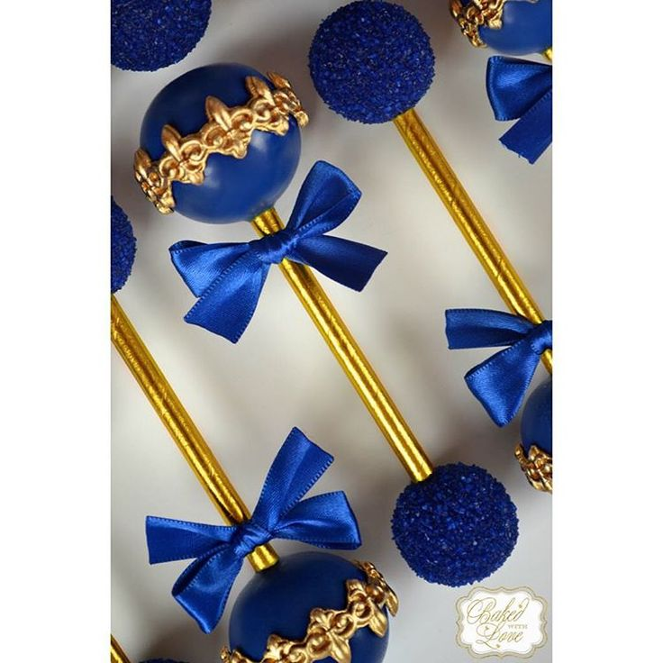 """Had the privilege of making my absolute favorite cake pops again this weekend for a royal baptism  Featured are our royal prince baby rattle cake…"""