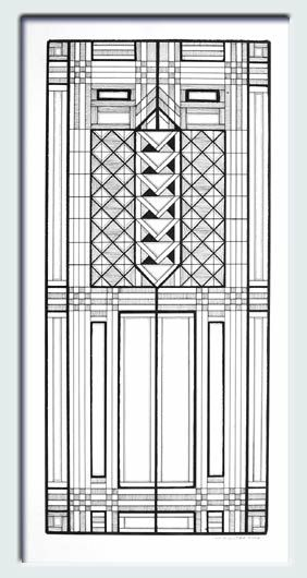 Frank lloyd wright window designs google search for Frank lloyd wright coloring pages