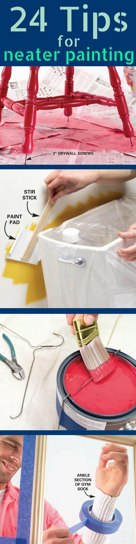 Paint a Room Without Making a Mess! Protect against spills, splatters and other disasters with these 24 painting tips. http://www.familyhandyman.com/painting/tips/paint-job-tips-neater-painting
