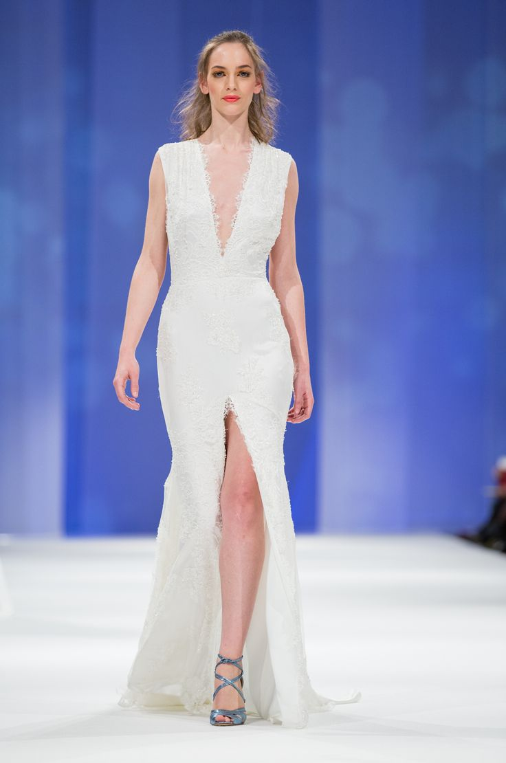 Dalarna Couture Pearl collection beaded lace wedding gown