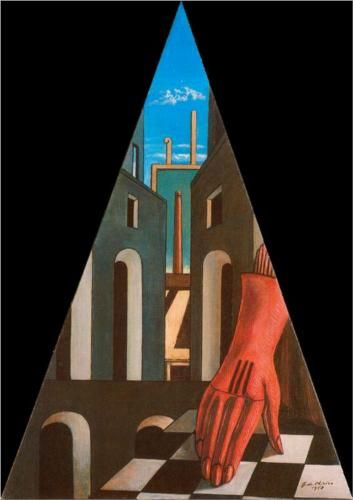 Giorgio de Chirico (1888 - 1978) | Metaphysical Art | Metaphysical Triangle - 1958- environmental structure