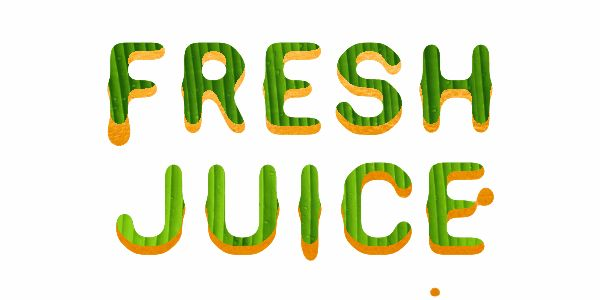 Juice drop animated text logo effect