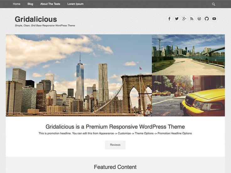 Gridalicious — Free WordPress Themes