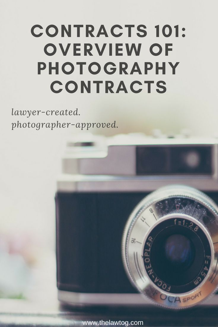 Contracts 101: Overview of Photography Contracts via @rachelbrenke