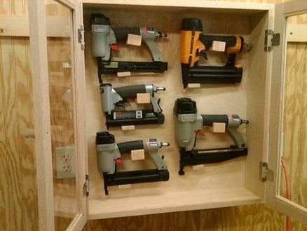 Nail Gun Storage Cabinet