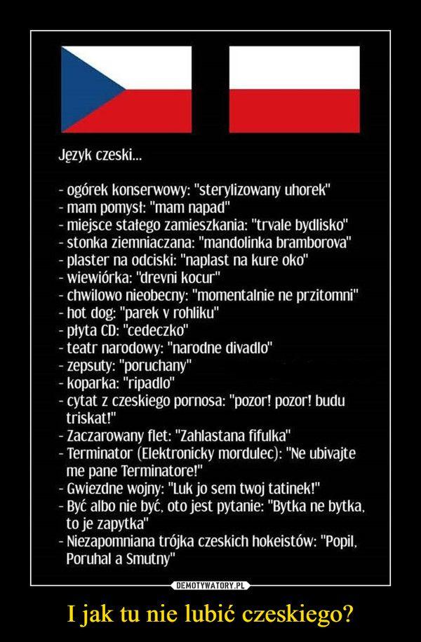 I Jak Tu Nie Lubić Czeskiego Język Czeski Ogórek