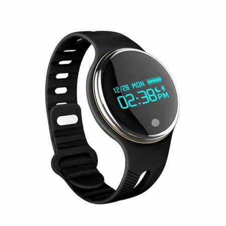 TechComm E07 IP67 Waterproof GSM Unlocked Smartwatch for Swimming & Diving with Bluetooth Fitness, Tracker Multi-Sport Mode, Pedometer, Sedentary Reminder, Sleep Monitor and Anti-Lost Alarm - Black