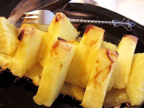 Baked pineapple