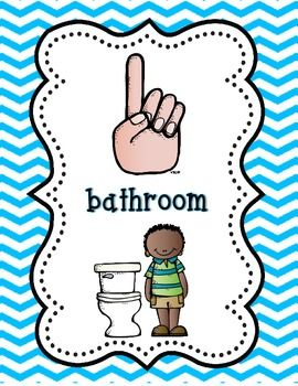 Bathroom Signs For Kindergarten best 20+ classroom hand signals ideas on pinterest   hand signals