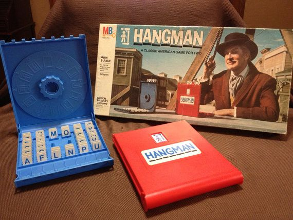 80 S Milton Bradley Toys : Hangman by milton bradley retro s word guessing