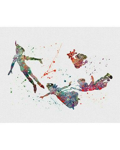Watercolor -  Peter Pan