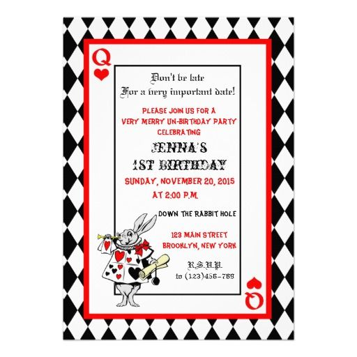 38 best Alice in Wonderland Invitations images on Pinterest - best of invitation for 1st birthday party free