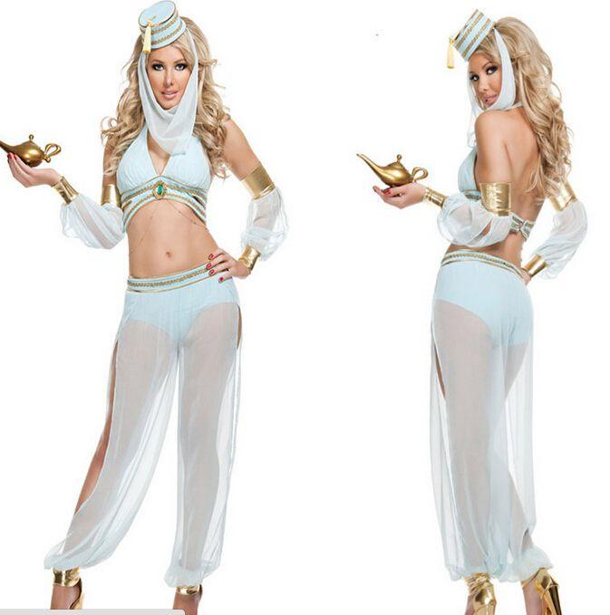 >> Click to Buy << Free shipping Arabian Genie Aladdin Princess Jasmine Fancy Costume Dress halloween costume party dress   free size #Affiliate