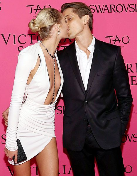 Candice Swanepoel Kisses Boyfriend After Victoria's Secret Show - Us Weekly