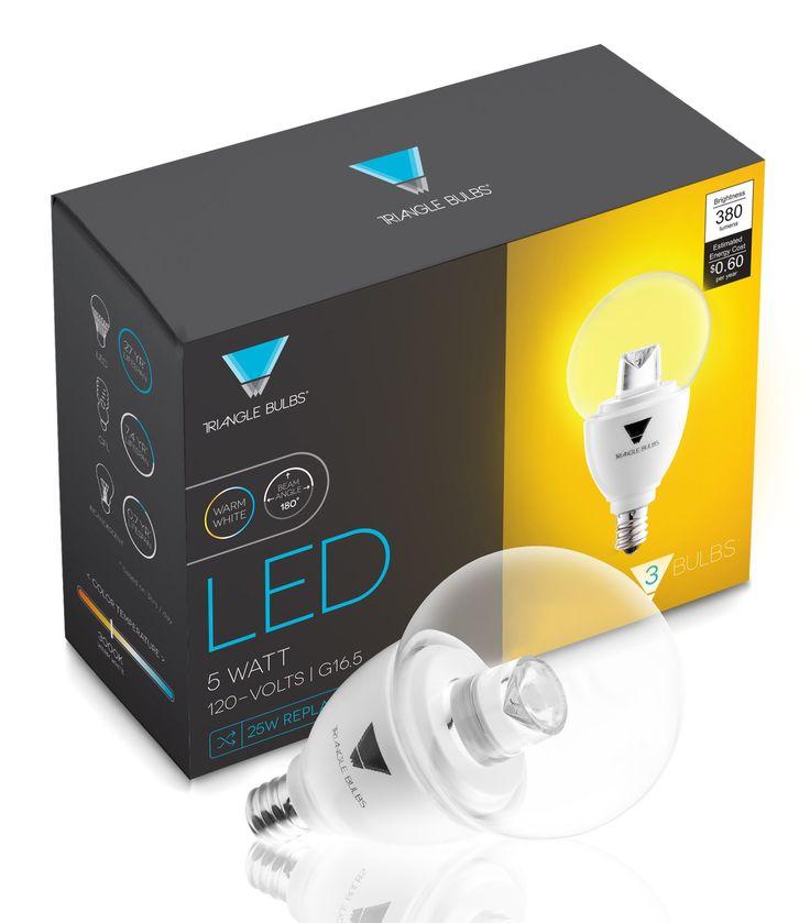 Triangle Bulbs (Pack Of 3) G16.5 Decorative Globe Light