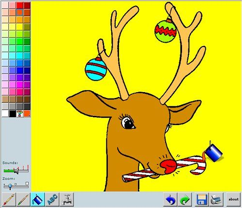 Online Christmas Coloring App! Have fun coloring Christmas ...